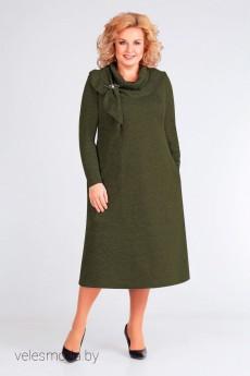 Платье 2440 хаки Асолия
