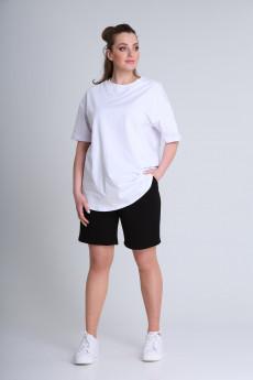 Костюм с шортами 225 белый+черный BLISS