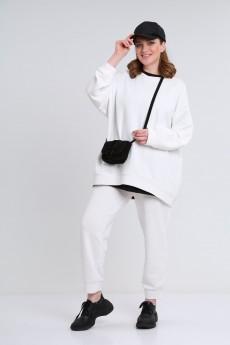 Спортивный костюм 2275 белый+черный BLISS