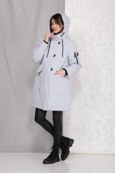 Пальто 40245 серо-голубой Beautiful&Free