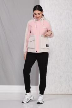 Куртка 4046 розовый Beautiful&Free