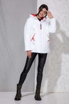 *Куртка 4059 белый Beautiful&Free