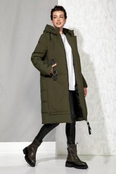 Пальто 4060 хаки Beautiful&Free