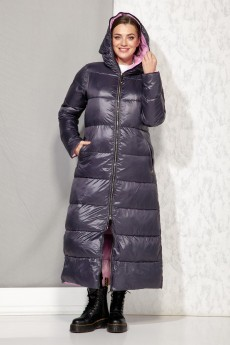 Пальто 4067 синий + розовый Beautiful&Free