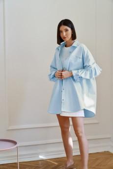 Рубашка   3975-1 голубой   Beauty