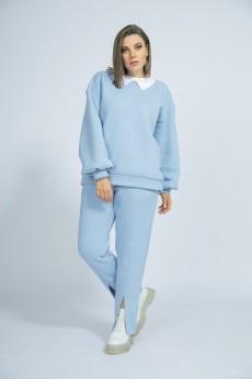 Спортивный костюм 3017 голубой BegiModa
