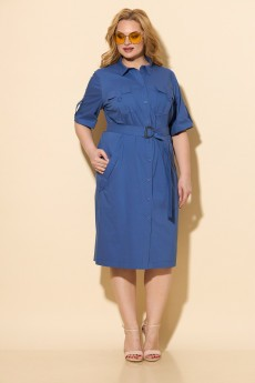 Платье 833 голубой БелЭльСтиль