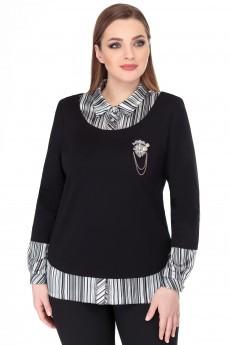 Блузка 1112 черный БелЭкспози