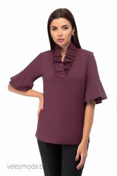 Блузка 1373 бордовый БелЭкспози