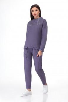 Спортивный костюм 1390 серо-лавандовый БелЭкспози