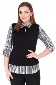 Блузка 1402 черный БелЭкспози
