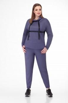Спортивный костюм 1405 серо-лавандовый БелЭкспози