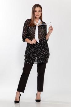Блузка 5116 черный  Belinga