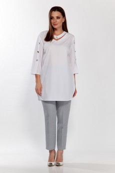 Блузка 5125 белый Belinga