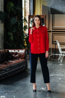 Рубашка 2045 красный Bon Bon