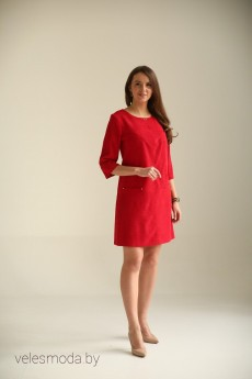 Платье 2044красный Bon Bon