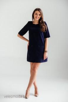 Платье 2044синий Bon Bon