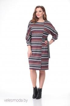 Платье 497а полоска розовая Bonna Image