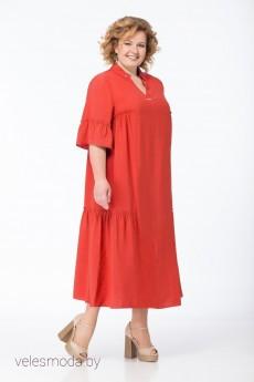 Платье 335 коралл Bonna Image