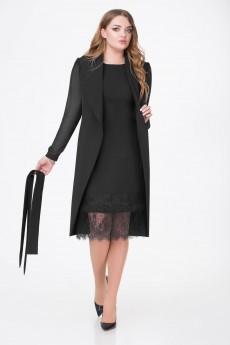 Костюм с платьем 383 черный Bonna Image