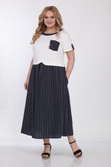 Платье 565 молочный+синий Bonna Image