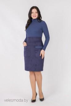 Платье 1467 синий Daloria