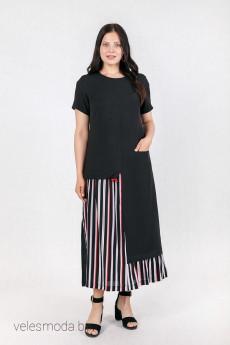 Платье 1497 черный Daloria