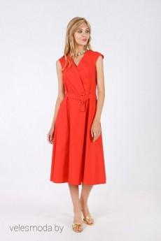 Платье 1499 красный Daloria