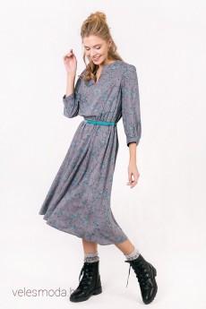 Платье 1508 серый Daloria