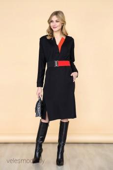 Платье 1524 черный Daloria