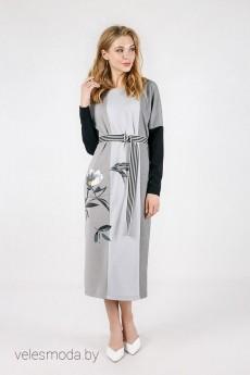 Платье 1526 серый Daloria