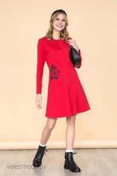 Платье 1626 красный Daloria