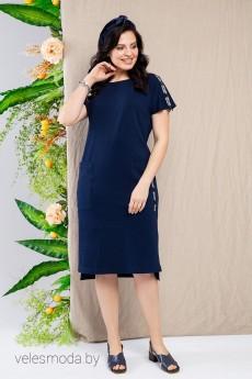 Платье 1653 темно-синий Daloria