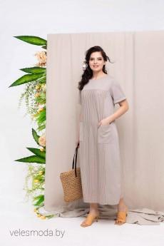 Платье 1663 бежевый Daloria