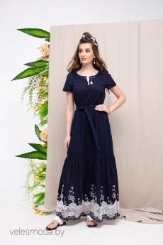 Платье 1665 синий Daloria