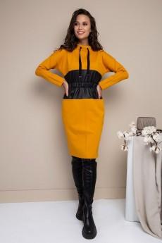 Платье 1778 желтый Daloria