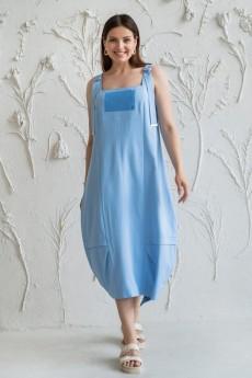 Платье 5013 голубой Daloria