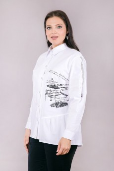 Блузка 6107 белый Daloria