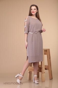 Платье 1859 крем+молоко Danaida
