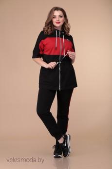 Спортивный костюм 1901 красный+черный Danaida