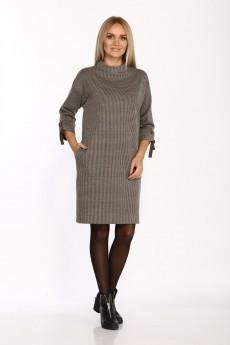 Платье 2070 бежево-коричневый Danaida