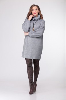 Платье 874 серый Deluiz N