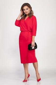 Платье 1629 красный DilanaVIP