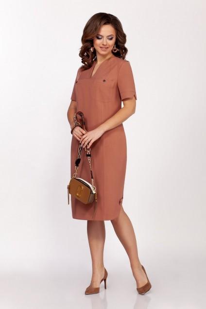 Платье 1692 коричневый DilanaVIP