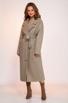 Пальто 1766олива DilanaVIP