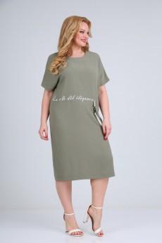 Платье 1666 зеленый Diamant