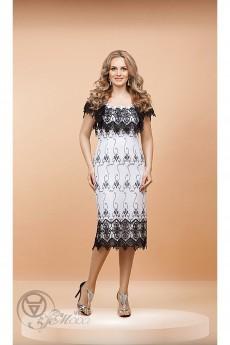 Платье 1051 черно-белый Diva