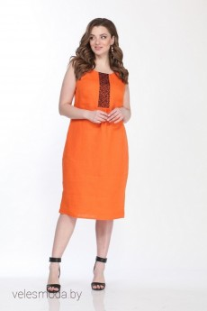 Платье 1292 оранжевый Djerza