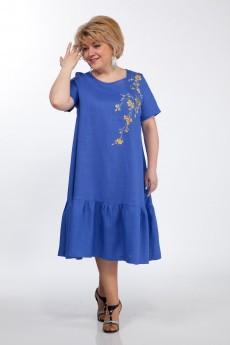 Платье 1293 синий Djerza