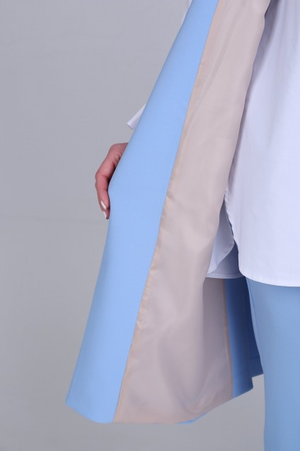 Костюм брючный 607 голубой Djerza
